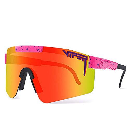 YYMM Gafas de Sol, Marco Grande Colorido galvanoplasto Completo Polícula Real Polarizadas Polarizadas Ciclismo al Aire Libre, Gafas de Sol polarizadas UV400, para la Pesca de Carreras de béisbol,F