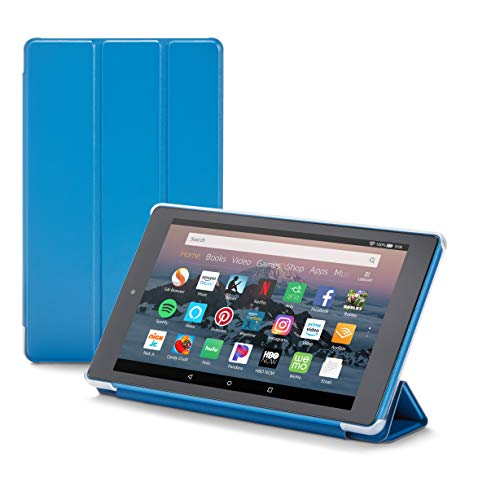 Nupro Tri-fold Standing Case for Fire HD 8 Tablet, Blue (compatible with 2018 release)