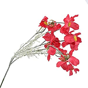 Artificial and Dried Flower 10head/Set Artificial Cosmos Flowers Fake Cloth Hand Flower Simulation Plastic Flower Wedding livingroom Home Decoration – ( Color: Rose red )