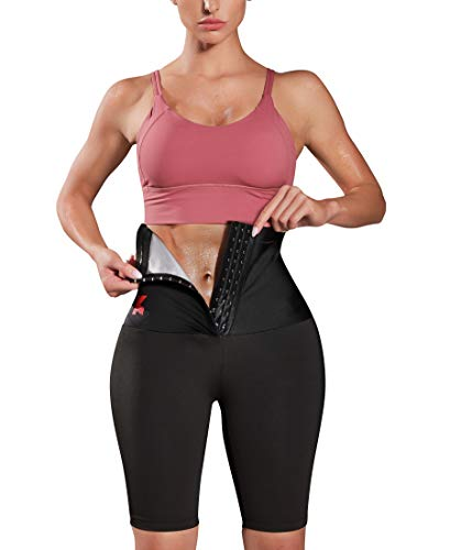 KUMAYES Sauna Sweat Pants for Women High Waist Slimming Shorts Compression Thermo Workout Exercise Body Shaper Thighs