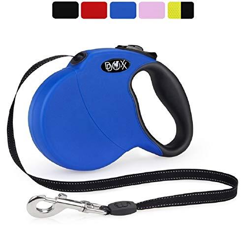 DDOXX Roll-Leine reflektierend, ausziehbar | viele Farben & Größen | für kleine & große Hunde | Hundeleine einziehbar Welpe Katze | Hundeleinen Zubehör Flexi-Leine Hund | XS, 3 m, bis 8 kg, Blau