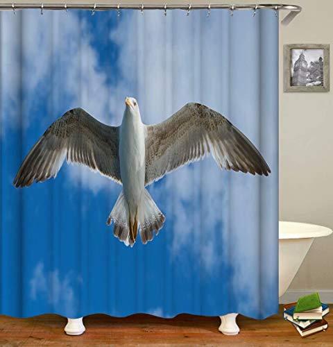 ZZZdz Fliegende Tauben. Duschvorhang: 180 X 180 cm. Wasserdichter Stoffteppich Für Duschvorhang. Bad Duschvorhang Set Polyesterfaser Bad Duschvorhang.