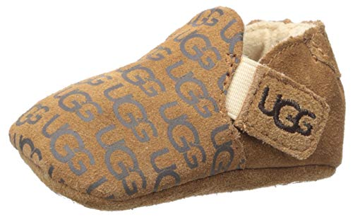 UGG baby girls Roos Crib Shoe, Chestnut, 2-3 Infant US