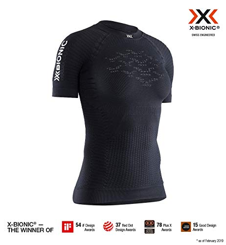 X-Bionic Effektor 4.0 Run Chemise Femme, Opal Black/Arctic White, FR (Taille Fabricant : XS)