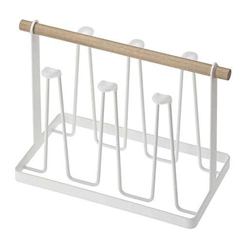 IREANJ Organizador de almacenamiento de drenaje para escurridor, soporte para vasos, organizador multifunción compatible con escurridor de cocina (color: blanco, tamaño: Fre