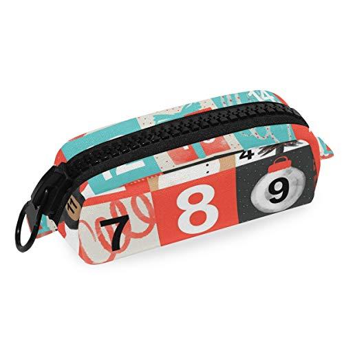 Kerstmis Vierkante Vormige Kalender School Pen Case met Grote Rits Kids Canvas Potlood Houders Grote Capaciteit Pouch Make-up Cosmetische Dozen Office Reistas