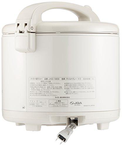 『タイガー 電子ジャー 保温専用 保温ジャー 1升 マイルドグレー JHD-1800-HD』の4枚目の画像