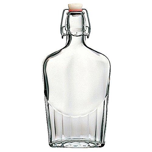 Bottiglia Vintage Bormioli Fiaschetta 50 cl (1,2 lt) Elegante con Tappo Meccanico (Colori Assortiti) per Acqua Bevande Preparazione e conserva Cocktail