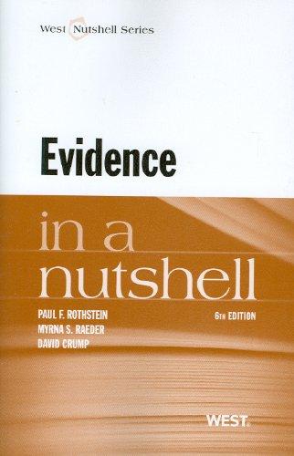 Evidence in a Nutshell (Nutshells)