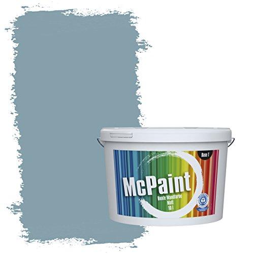 McPaint Bunte Wandfarbe Taubenblau - 10 Liter - Weitere Blaue Farbtöne Erhältlich - Weitere Größen Verfügbar