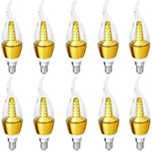 10Pcs LED Candle Angular Bulb 5 watt warm light