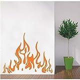 LETAMG Wandsticker Spezielle Wandtattoos Feuer Flamme Aufkleber Vinyl Aufkleber Kamin Home Decor Art Wohnzimmer Interior Decor Poster