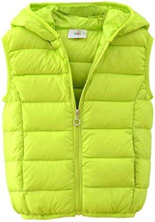 M2C Boys Girls Hooded Packable Lightweight Down Puffer Vest