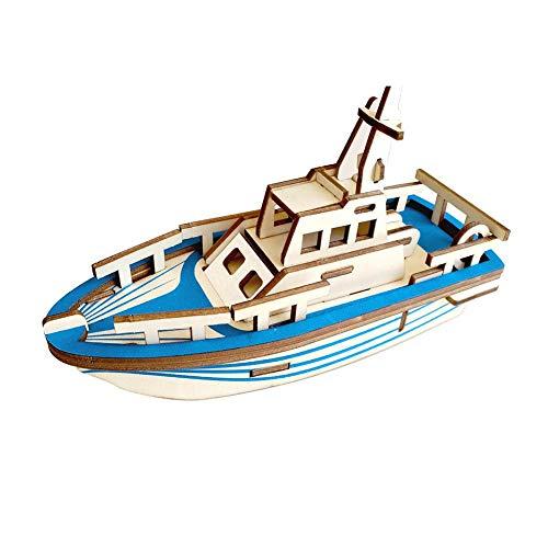 DIY Yacht Modell 3D Montage Puzzle Holzmodell Set Kinder Spielzeug Teen und Erwachsener