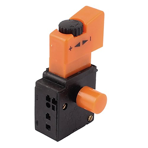 Aexit AC250V 6A Shaft Collars Speed Control Self-Locking Trigger Switch for Heat Shrinkable Shaft Collars Electric Drill