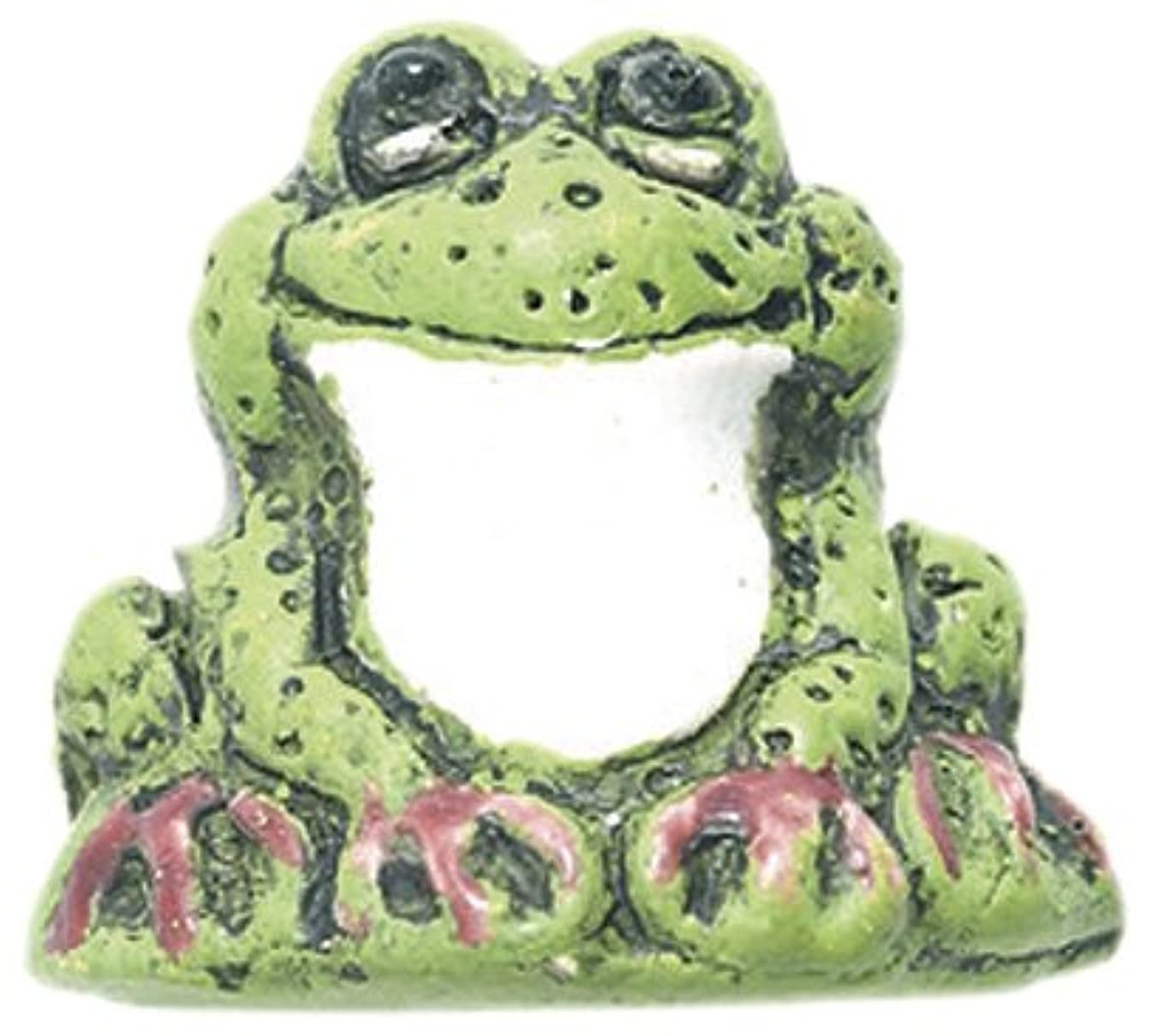 Shipwreck Beads 21 by 23mm Peruvian Hand Crafted Ceramic Frog Beads, Light Green, 3 per Pack