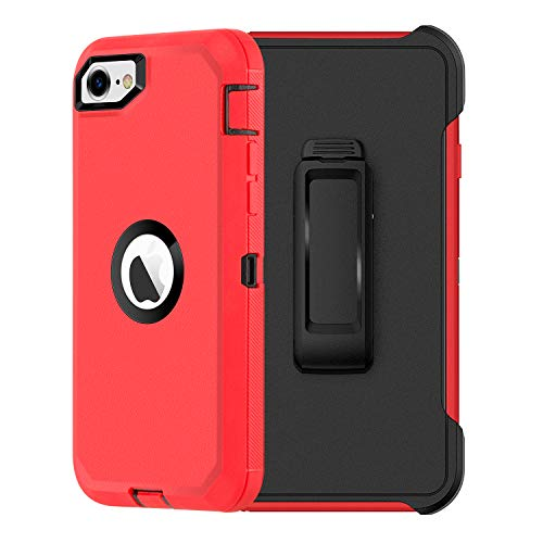 AICase for iPhone SE 2020 Belt-Clip Holster Case, Drop Protection Full Body Rugged Heavy Duty Case Built-in Screen Protector, Shockproof/Drop/Dust Proof Protective Cover for Apple iPhone SE [2nd Gen]