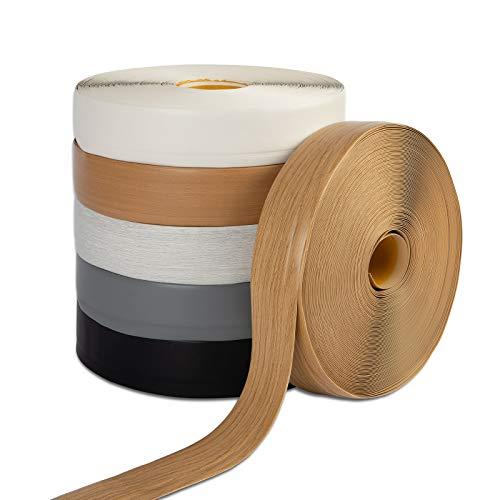 Rodapié Oslo | se puede cortar individualmente | parte trasera autoadhesiva | Rodapié blando de PVC en muchos colores | 50 x 15 mm (longitud: 50 m, blanco)