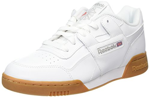 Reebok Herren Workout Plus Fitnessschuhe, Weiß (White/Carbon/Classic Red Royal/Gu 000), 41 EU