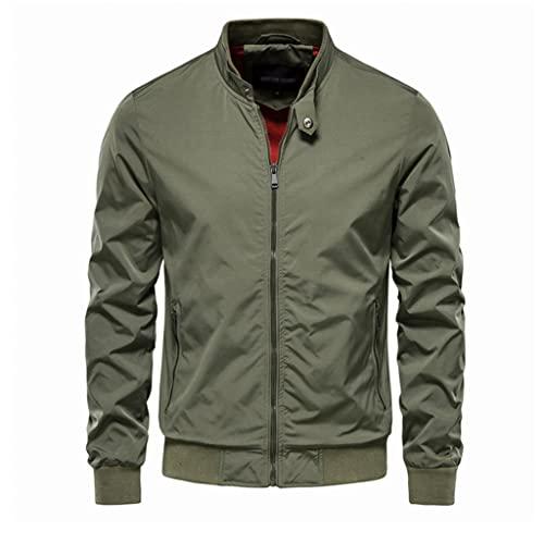 LSDJGDDE Chaqueta de béisbol de color sólido Hombres Soporte casual Collar Chaquetas for hombre Jackets delgado de otoño chaquetas for hombres (Color : D, Size : Asia M 50-55 kg)