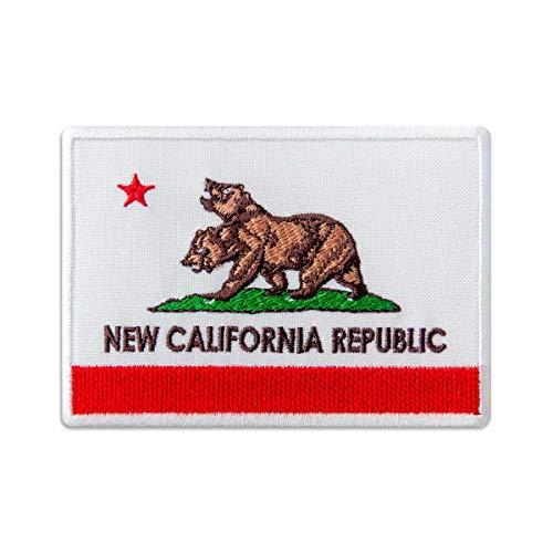 Fallout Patch – New California Republik Flagge – Bestickter Aufnäher zum Aufbügeln, 10,2 x 7,1 cm