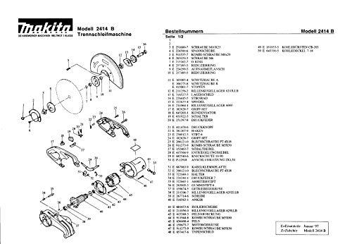 Makita 251680-7 Tornillo M10 x 25 Pieza de Repuesto Original 2414 B