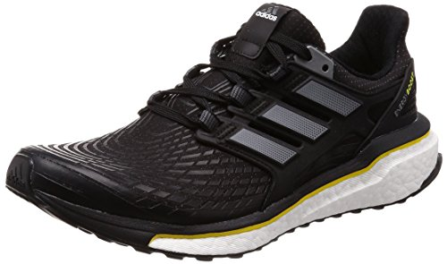 Adidas Energy Boost, Scarpe Running Uomo, Nero (Cblack/Ngtmet/Vivyel Cblack/Ngtmet/Vivyel), 50 2/3 EU