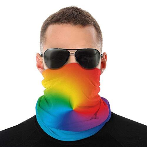Lzz-Shop Abstract Twist Color Radial Gradient Rainbow Multifunctional Bandanas & Balaclava Anti Dust