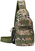 Armiya Men's Tactical Sling Bag, Small Shoulder Chest Molle Daypack Backpack for Cycling Hiking Camping Trekking (jungle digital)