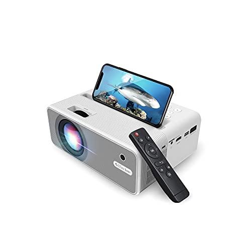 EZCast H3 Beamer | Native 1080P, 5GHz WLAN, 10600 Lumen, USB-C und HDMI Anschluss, Kompatibel mit Fire TV Stick, Roku, HDMI, USB, Heimkino, OTA Upgrade, Android, iPhone