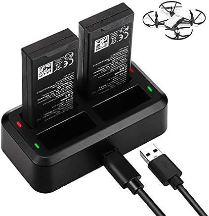 Tello Caricabatteria Battery Charger, Keenstone Caricatore 4 in 1 Charging Hub di Ricarica Parallela con Velocità per DJI Tello Quadcopter Drone Batteria