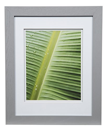 Gallery Solutions 11x14 Flat Double Mat for 8x10 Photo, Wall Mount Picture Frame, 8' x 10', Gray