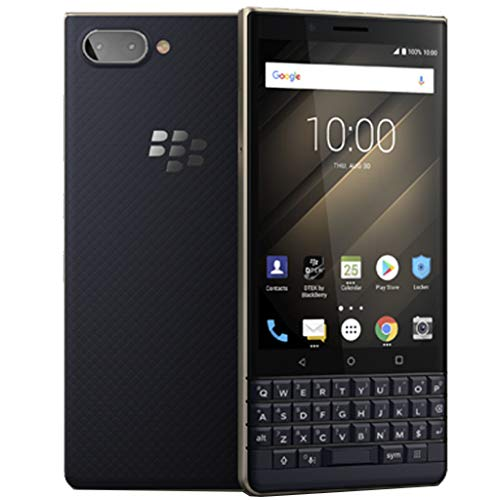 BlackBerry KEY2 LE Dual-SIM (64 GB, BBE100-4, QWERTZ-Tastatur) (nur GSM, Nicht CDMA) 4G Smartphone Factory Unlocked (Champagner/Gold) - Internationale Version
