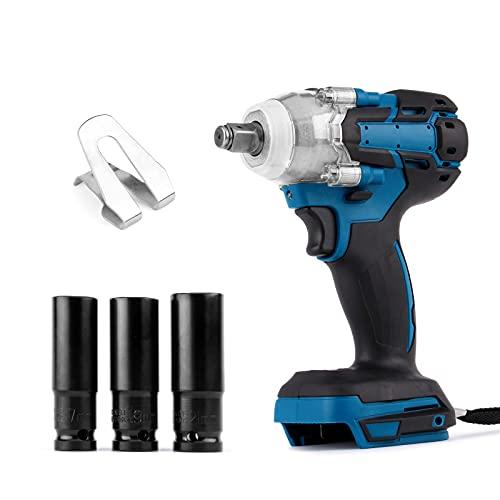 Llave de impacto Ecarke, llave de impacto a bateria juego de taladro atornillador de impacto inalámbrico de 18 V...