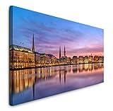 Paul Sinus Art GmbH Panorama Hamburg 120x 50cm Panorama