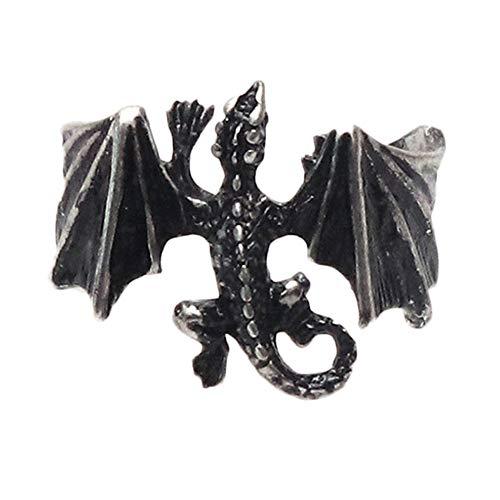 Zonfer Weinlese-punkringe, Pterosaur Drachen-justierbarer Ring, Persönlichkeit Ringe Für Einen Mann Eine Frau