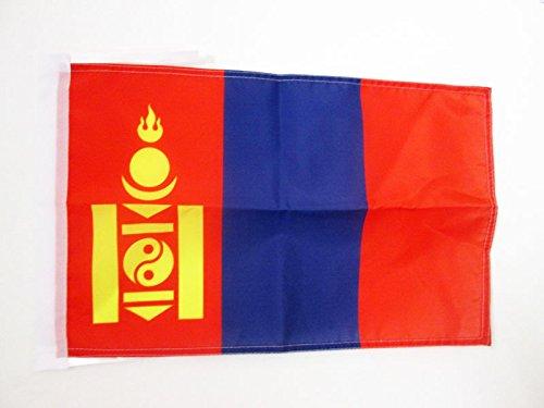 AZ FLAG Flagge MONGOLEI 45x30cm mit Kordel - MONGOLISCHE Fahne 30 x 45 cm - flaggen Top Qualität