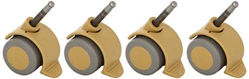 Christiane Wegner 0490 01 - Juego de ruedas con freno para cuna, con enganche de pivote, ideal para suelos de parqué y alfombra