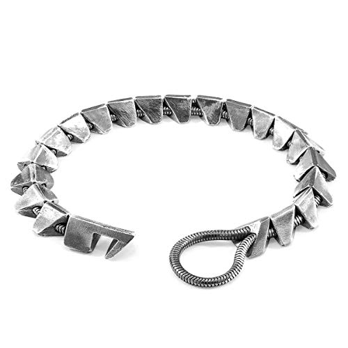 Photo of ANCHOR & CREW Brixham Maxi Silver Chain Bracelet – Mens – 21cm