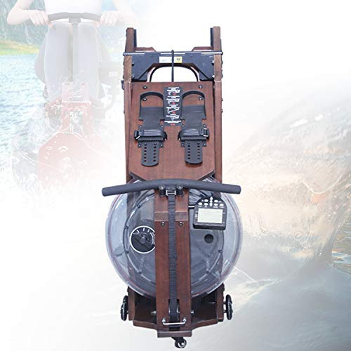 HIMABeauty Faltfunktion Wasser Widerstand Ruderzugmaschine, Rudergerät mit Verstellbarer Fußstütze Und Bank, Rower Zuhause Echtholz Heimtrainer, Maximale Belastung 360 Kg