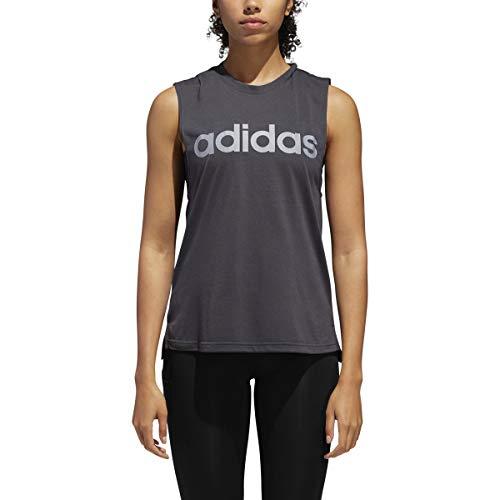 adidas Women's Dash Tank Top (Small) Carbon
