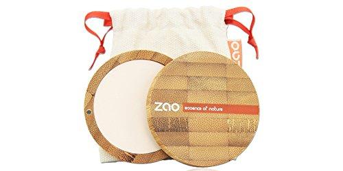 ZAO Compact Powder 301 elfenbein hell Kompaktpuder, in nachfüllbarer Bambus-Dose (bio, Ecocert,...