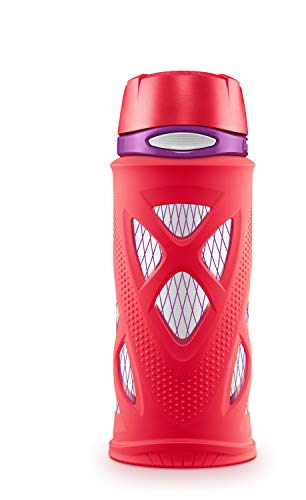 ZULU Shorty Kids Tritan Plastic Water with Silicone Sleeve, 16 oz,...