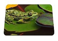 22cmx18cm マウスパッド (カエルの葉沼) パターンカスタムの マウスパッド