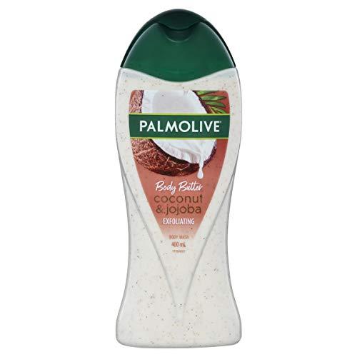 Palmolive Body Butter Coconut Scrub Jojoba Exfoliating Body Wash Recyclable, 400mL
