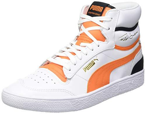 PUMA Unisex-Erwachsene Ralph Sampson MID Sneaker, Puma Weiß Karotte Puma Schwarz, 39 EU