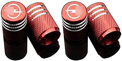4 Piezas Neumáticos Tapas Válvulas para Opel Corsa Insignia Astra Antara Meriva, Antipolvo Tapones de Coche Decoración Accesorios