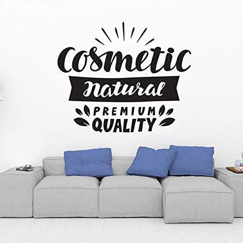 Cosméticos pegatinas de pared arte tatuajes de pared decoración de la habitación salón de belleza decoración del hogar niñas componen calidad