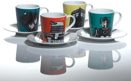 Preisvergleich für Doctor Who Home Espressotassen, in Geschenkverpackung, 4-teiliges Set