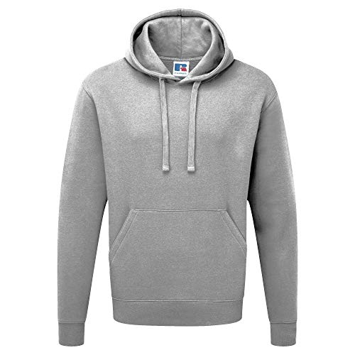 Russell Authentic Kapuzenpullover/Kapuzensweater/Hoodie (M) (Grau)